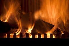 The burning wood Stock Image