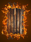 Burning wood texture Stock Photography