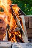 Burning Wood Stock Image