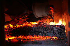 Burning woods Stock Photos