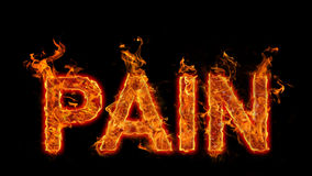 Burning Word Pain Royalty Free Stock Photography