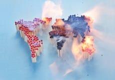 Burning world royalty free stock photography
