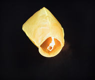 Burning yellow celestial lamp Royalty Free Stock Photography
