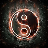 Burning yin-yang sign. For your design Royalty Free Stock Photography