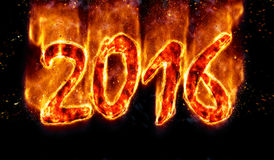 Burning 2016. Royalty Free Stock Photos