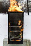 burninging υπολογιστής περίπτωσ&et Στοκ φωτογραφία με δικαίωμα ελεύθερης χρήσης