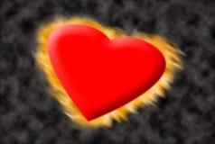 burninging Валентайн сердца Стоковые Фотографии RF