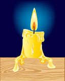 Burninging candle Stock Photography