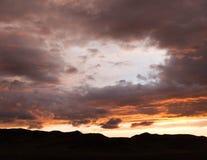 Burninging sky Stock Photography