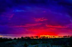 Burnning sky Stock Images