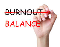 Burnout Balance Concept. Isolated on white background royalty free stock photos