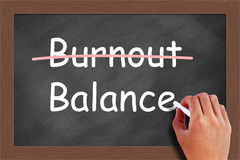 Burnout Balance Concept Royalty Free Stock Photography