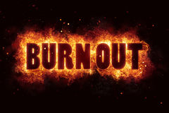 Burnout burn flames fire explosion explode. Text Stock Photo
