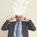 Burnout capo delle persone di affari indiane Fotografia Stock