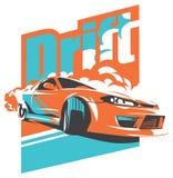 Burnout car, Japanese drift sport, JDM, Royalty Free Stock Photos