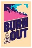Burnout car, Japanese drift sport, Street racing Royalty Free Stock Photo