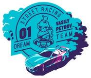 Burnout car, Japanese drift sport, Street racing Stock Photography