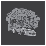 Burnout car, Japanese drift sport, Street racing Royalty Free Stock Images