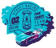 Burnout car, Japanese drift sport, Street racing Stock Image