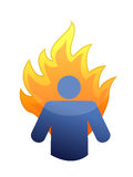 Burnout concept illustration design. Over a white background Royalty Free Stock Photo