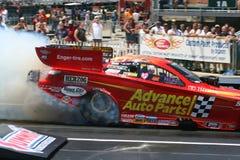 Burnout divertente dell'automobile Fotografie Stock Libere da Diritti