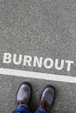 Burnout ill illness stress stressed at work business concept Royalty Free Stock Photo