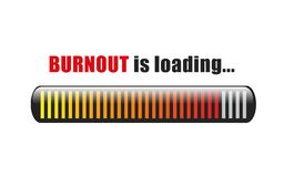 Burnout is loading stress bar. Vector illustration EPS10 vector illustration