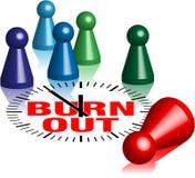 Burnout ludo figures. Game pawns symbolizing people threatened by burnout Stock Photo