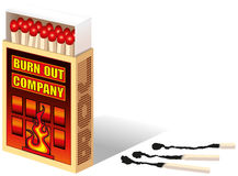 Burnout Matchbox Royalty Free Stock Images