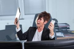 Burnout in Office Royalty Free Stock Photo