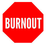 Burnout panel sign Stock Photos