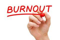 Burnout Red Marker Royalty Free Stock Photo