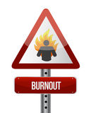 Burnout road sign illustration design. Over a white background vector illustration
