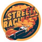 Burnout samochód, japończyka dryfu sport, ulicy ścigać się royalty ilustracja