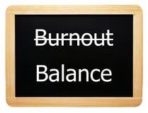 Burnout/Schwerpunkt - Konzept-Zeichen Stockbild