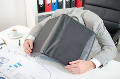 Burnout. Situation with a businessman Stock Photography