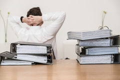 Burnout Stressed. Burnout Revision. business burnout bank Royalty Free Stock Photos