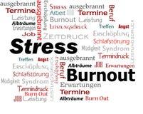 Burnout stresu słów chmura Zdjęcia Stock