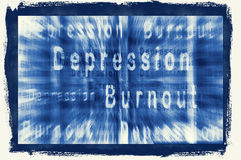 BURNOUT-SYNDROME. Illusstration of Bunrout-Syndrome and Depression Royalty Free Stock Photography