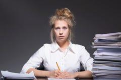 Burnout- und Arbeitsrückstand Lizenzfreie Stockfotografie