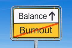Burnout- und Schwerpunktzeichen Lizenzfreies Stockfoto
