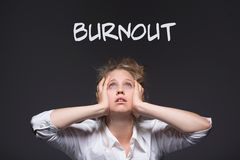 Burnout workplace harassment victim Stock Photography