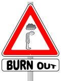 Burnout znak ostrzegawczy ilustracja wektor