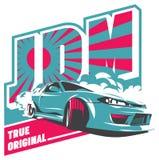 Burnoutauto, japanischer Antriebsport, JDM, Lizenzfreie Stockbilder