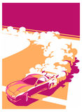Burnoutauto, japanischer Antriebsport, Straßenlaufen Stockfoto
