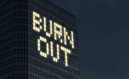 Burnoutkonzept Abführung und Druck von zu vielem Sachen, zum am Job zu tun Stressiger Überstundenjob verursacht Geistesprobleme u lizenzfreie stockfotografie