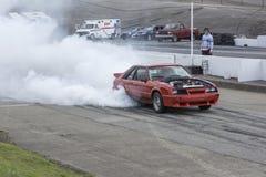 Burnoutwettbewerb Stockfotografie