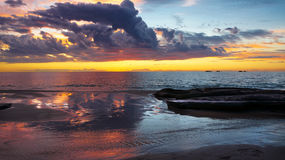 Burns Beach at Sunset Perth Australia. Beach at  Sunset  Perth Australia Stock Photo