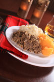 Burns Night Haggis Stock Image