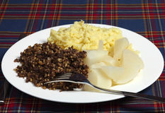 Burns night supper Royalty Free Stock Photo
